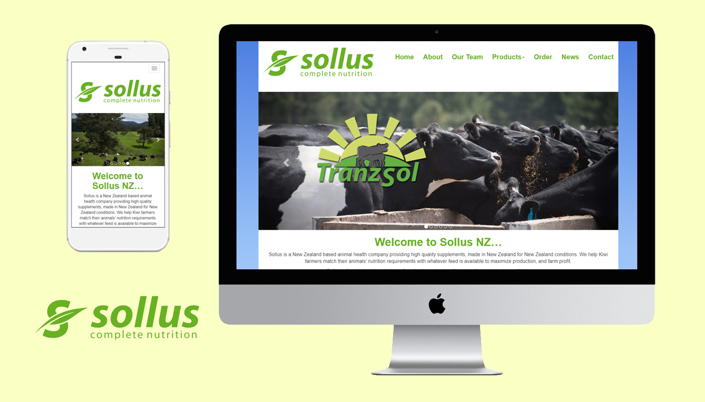 Acre Technologies Website built a fully responsive SEO ready website for Sollus